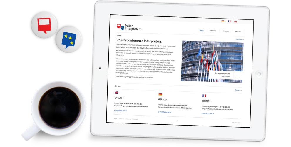 projekt strony internetowej tlumacze unia europejska