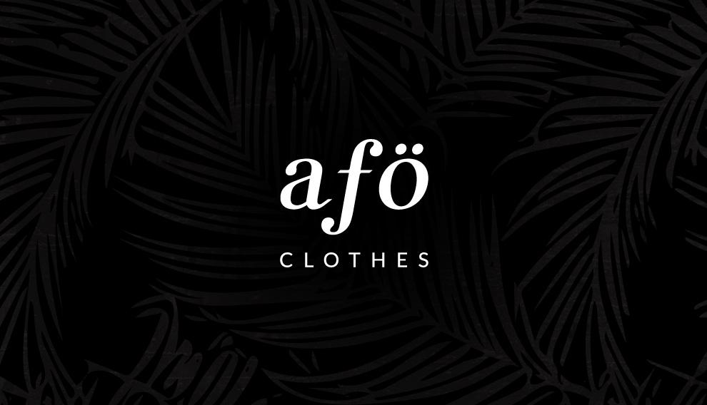 AFO clothes Branding Strona internetowa Łódź