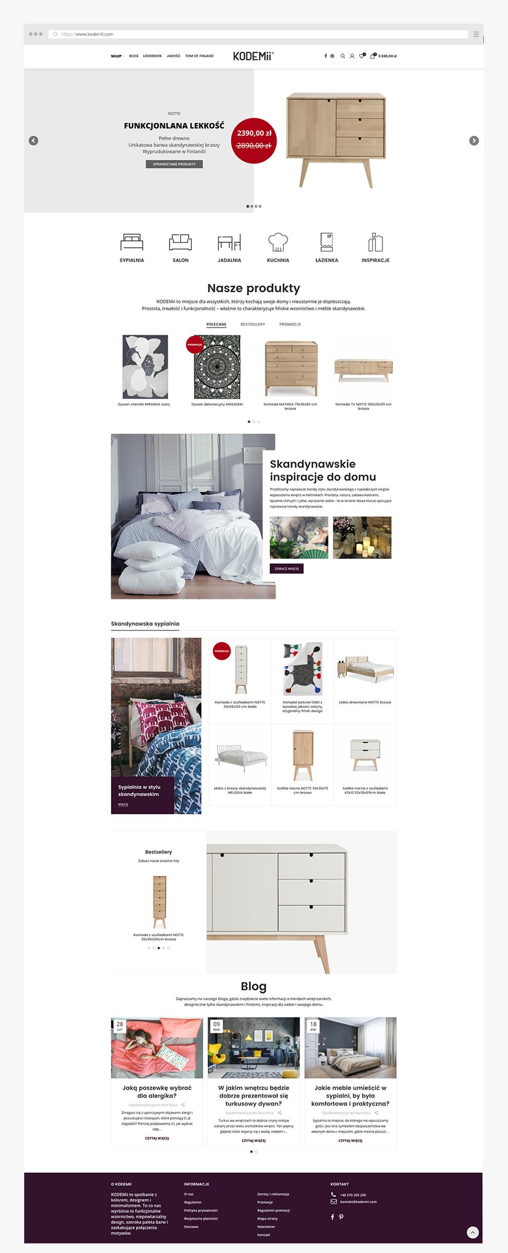 sklepy internetowe przykłady meble