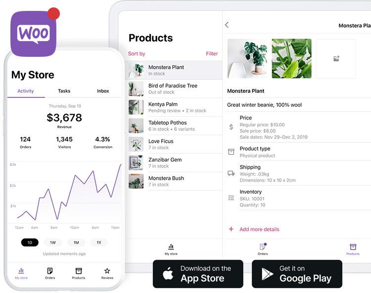 sklep woocommerce aplikacja mobilna na smartfona