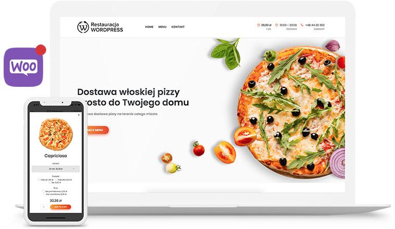system zamówień dla restauracji demo wordpress